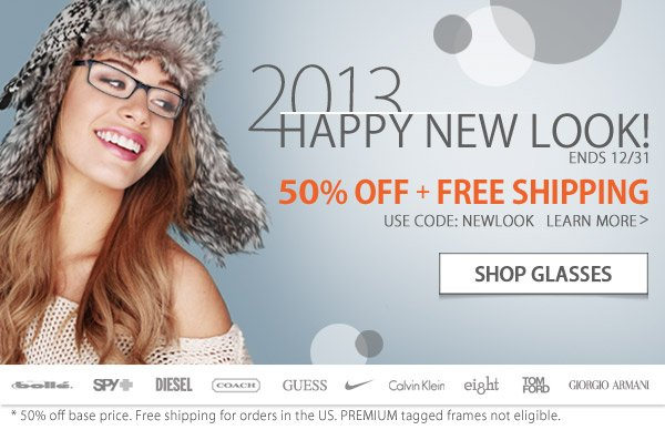 Happy New Look 2013 - 50% Off + Free Shipping!