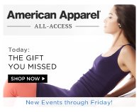 Shop American Apparel: The Gift You Missed