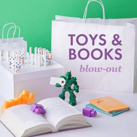 Toys & Books Blow-Out Sale