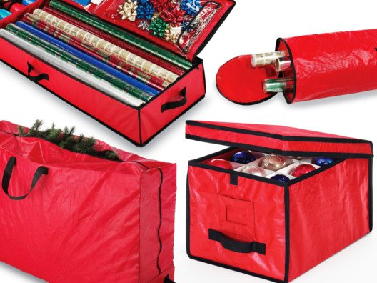 From wrap and ornament storage to a convenient Christmas tree bag, we've got options for you here that will make taking down your decorations a snap.