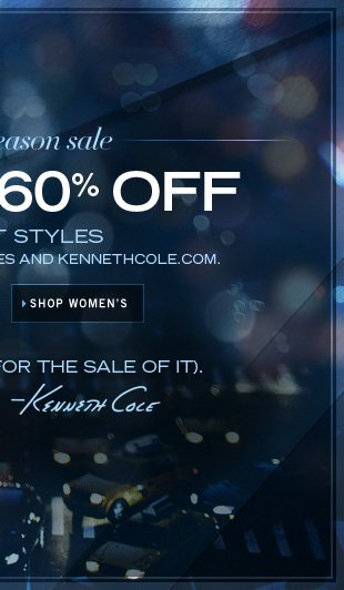 UP TO 60% OFF / SHOP WOMEN'S
