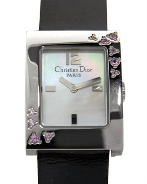 Christian Dior Crystal Stainless Steel Watch $499