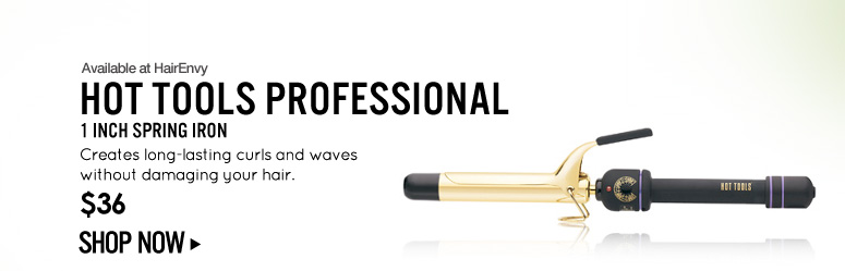 Available at HairEnvy Hot Tools Professional 1 Inch Spring Iron Creates long-lasting curls and waves without damaging your hair. $36 Shop Now>>