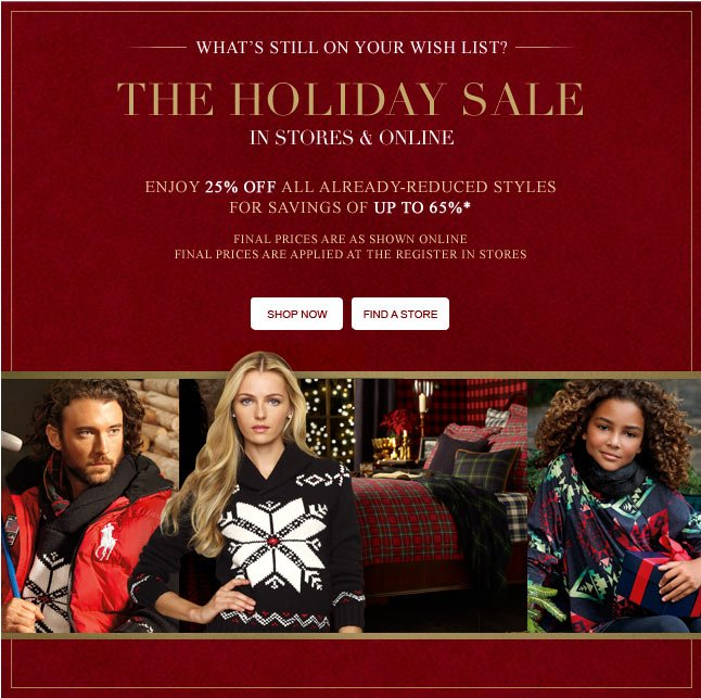 The Holiday Sale