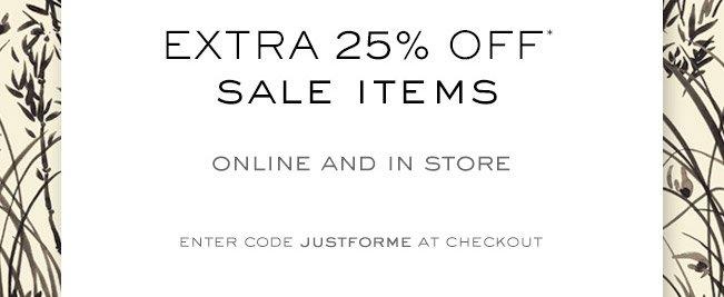 Extra 25% Off*