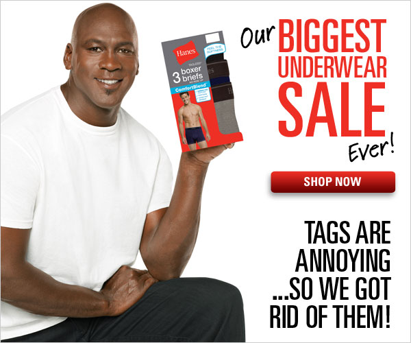 Biggest Underwear Sale