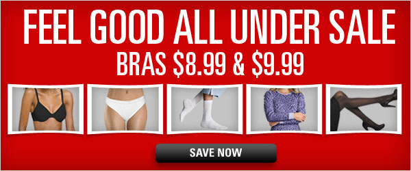 Bras $8.99 and $9.99 Sale
