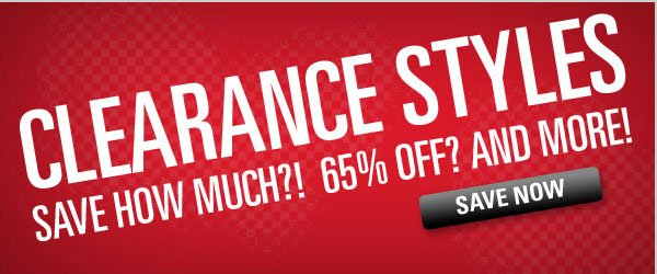 Clearance Styles 65% off and more