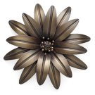 Burnished Flower Wall Decor