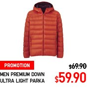 MEN PREMIUM DOWN ULTRA LIGHT PARKA