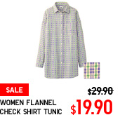 WOMEN FLANNEL CHECK SHIRT TUNIC