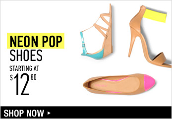 Neon Pop Shoes Starting at $12.80 - Shop Now