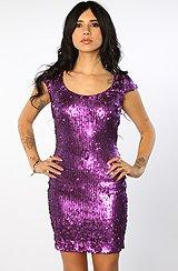 The Gabriella Dress in Plum