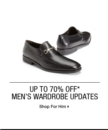 Up To 70% Off* Men's Wardrobe Updates