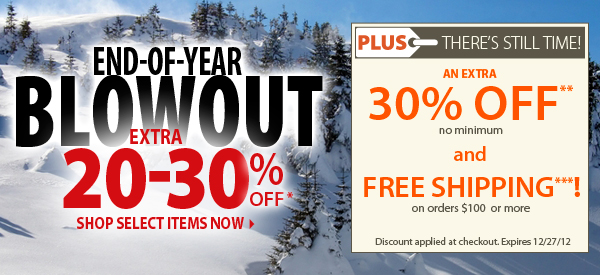 END-OF-YEAR BLOWOUT! Extra 20-30% OFF Select Items! PLUS FREE Shipping on orders $100+ & An Extra 30% OFF!