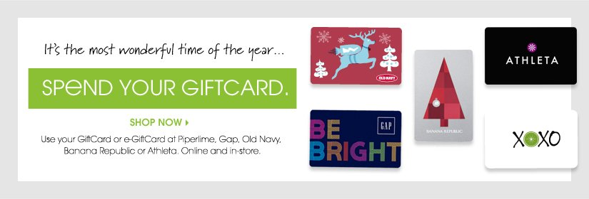 SPEND YOUR GIFTCARD. SHOP NOW