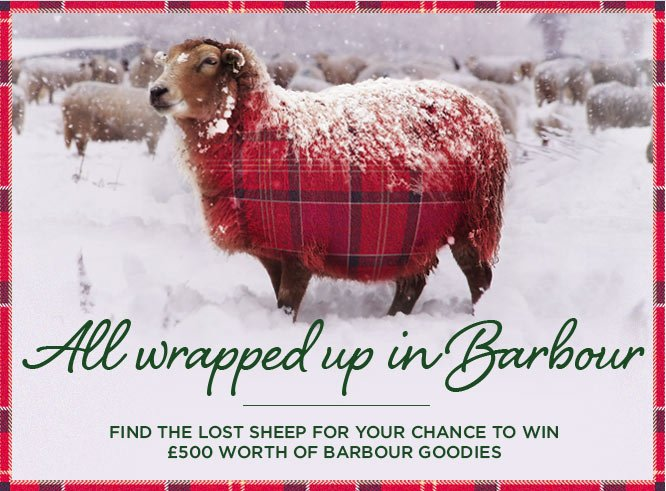 Find the lost sheep for your chance to win £500 worth of Barbour goodies