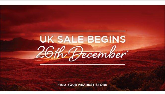 UK sale begins 26th December