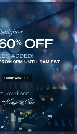UP TO 60% OFF SHOP WOMEN'S