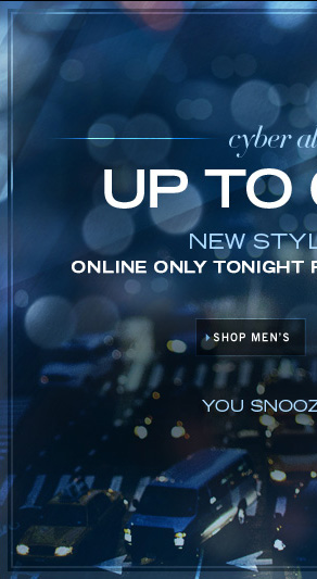 UP TO 60% OFF SHOP MEN'S