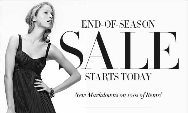 Our big end-of-season sale brings new markdowns on wardrobe staples and standout runway looks from top designers galore. Grab your favorites fast: at prices like these, they definitely won't last. Shop sale >>