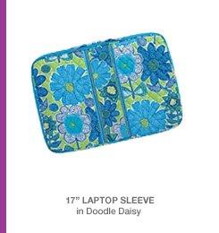 17in Laptop Sleeve in Doodle Daisy