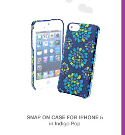 Snap on Case for iPhone 5 in Indigo Pop