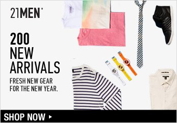 21MEN: 200 New Arrivals - Shop Now