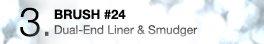 3. BRUSH #24 | Dual-End Liner & Smudger