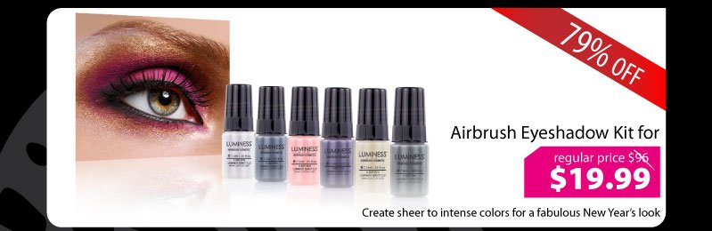 Purchase our Airbrush Eyeshadow Kit for $19.99.