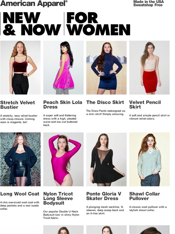 American Apparel  New and Now for Women!  55bb3e953