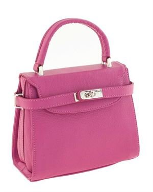 Classe Regina Genuine Leather Turnlock Handbag- Made in Italy