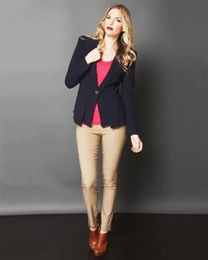 Lumiere Button Blazer