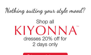 Shop All Kiyonna Dresses 20% off