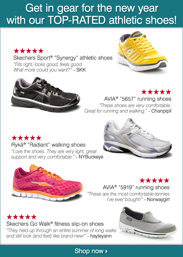 Get in gear for the new year with our TOP-RATED athletic shoes!