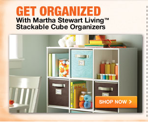 Get Organized with Martha Stewart Storage Bins