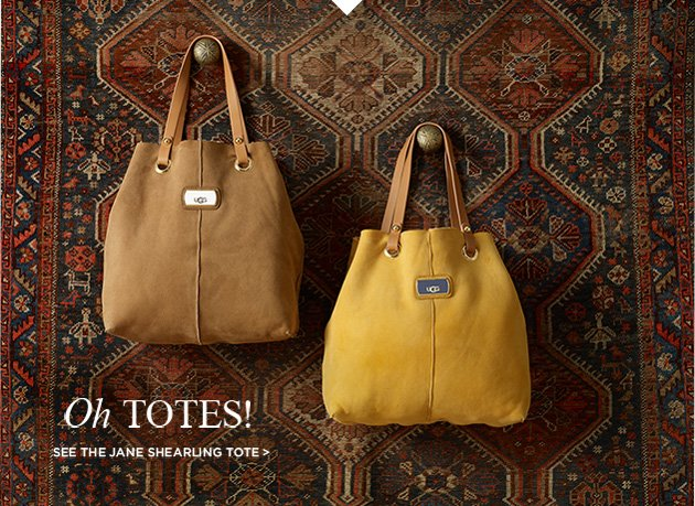 Oh totes! see the jane shearling tote