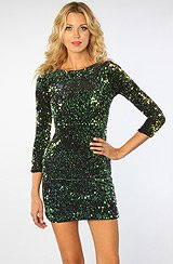 The Gabby Glitzy Sequin Long Sleeve Dress