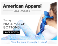 Shop American Apparel: Mix & Match Bottoms