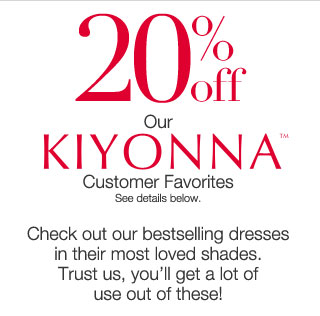 20% off our  Kiyonna Customer Favorites