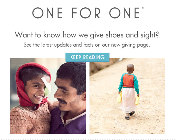 Want to know how we give shoes and sight? Keep reading.