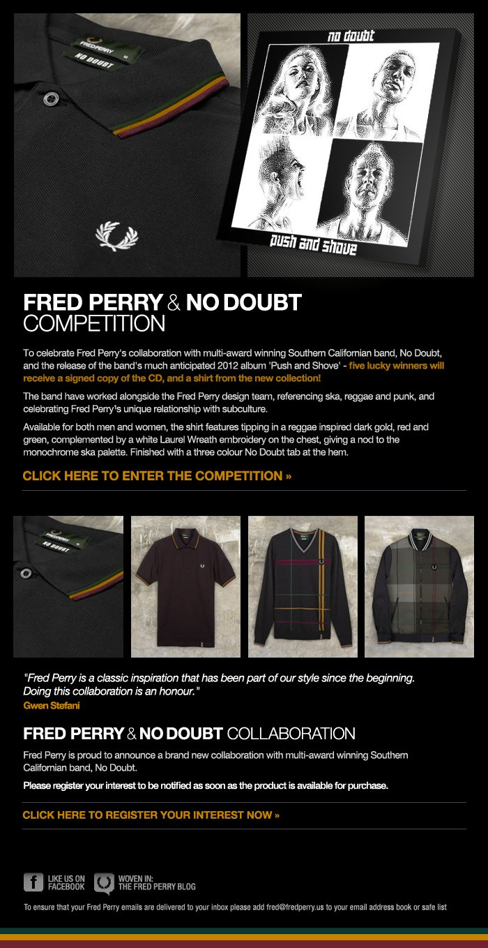 Fred Perry & No Doubt - Special Competition