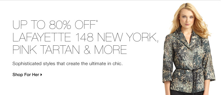 Up To 80% Off* Lafayette 148 New York, Pink Tartan & More