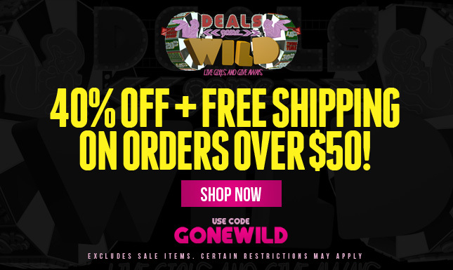 40% Off + Free Shipping! Stay tuned for Wheels Gone Wild at 5pm.