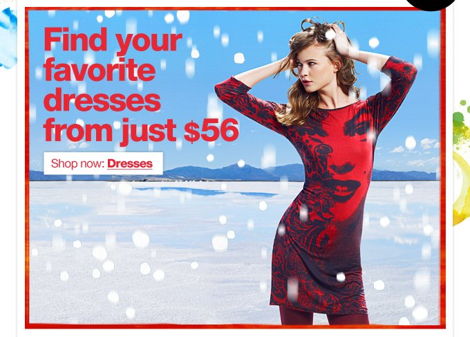 Find your favourite dresses from just $56
