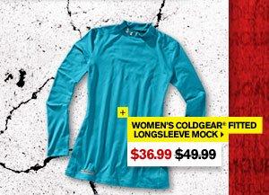 WOMEN'S COLDGEAR® FITTED LONGSLEEVE MOCK. - $36.99. SHOP NOW.