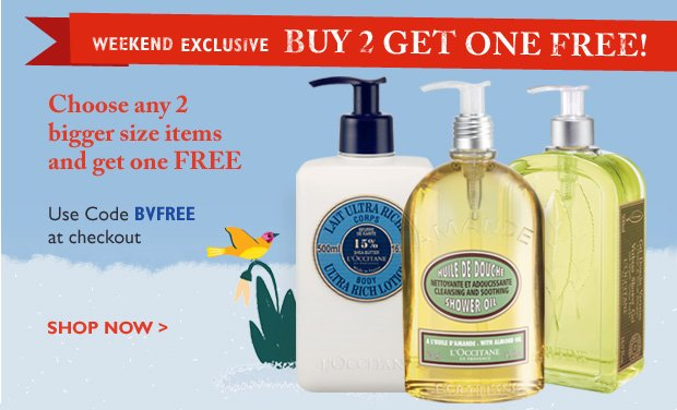 Weekend Exclusive – Buy 2 Get one Free!