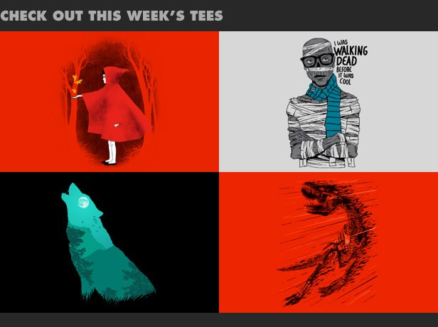 Check out this week's new tees