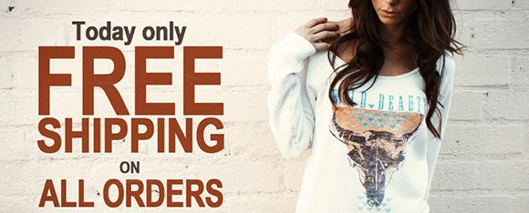 Today Only. Free shipping on all orders. Use code NEWYRSHIP