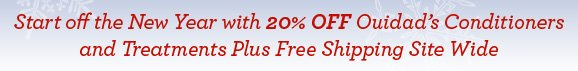Start off the New Year with 20% OFF Ouidad's Conditioners and Treatments Plus Free Shipping Site Wide